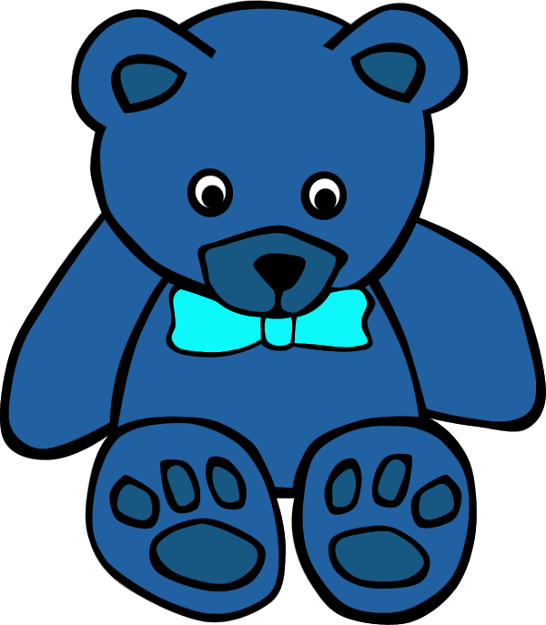 Navy blue teddy bear with pink clipart picture library Blue Teddy Bear Clipart   Free download best Blue Teddy Bear Clipart ... picture library