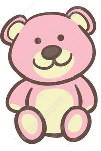 Navy blue teddy bear with pink clipart vector library download Pink Teddy Bear vector library download