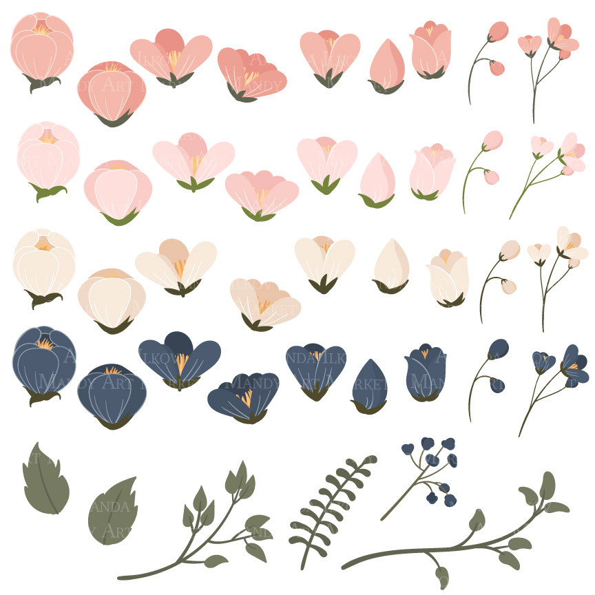 Navy flowers clipart picture black and white Free Navy Floral Cliparts, Download Free Clip Art, Free Clip ... picture black and white