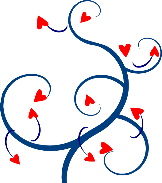 Navy heart clipart vector freeuse library Swirl Hearts Red And Blue 2 Clip Art at Clker.com - vector clip art ... vector freeuse library