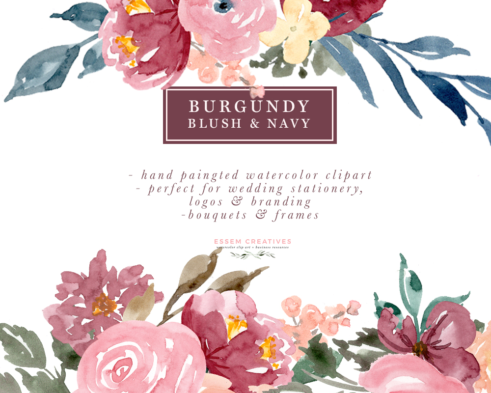 Watercolor corner bouquet clipart graphic download Blush paintings search result at PaintingValley.com graphic download
