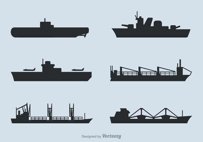 Navy ship silhouette clipart png transparent library Free Ships Silhouettes Vector Set - Download Free Vector Art, Stock ... png transparent library
