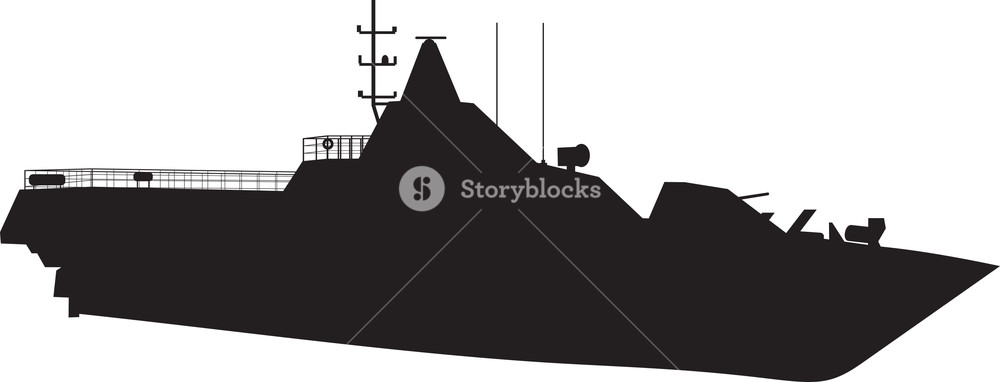 Navy ship silhouette clipart vector library download Naval Vessel Silhouette Royalty-Free Stock Image - Storyblocks Images vector library download