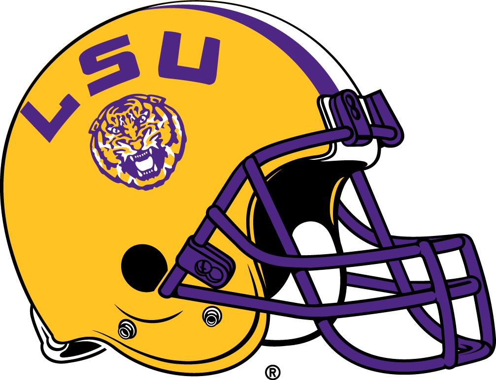 Ncaa south florida logo gold helmets football clipart clipart black and white library LSU Tigers Helmet Logo (2014) - | LSU | College football helmets ... clipart black and white library