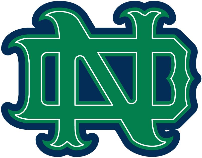 Nd football green clipart clip art black and white stock Notre Dame Fighting Irish Alternate Logo - NCAA Division I (n-r ... clip art black and white stock