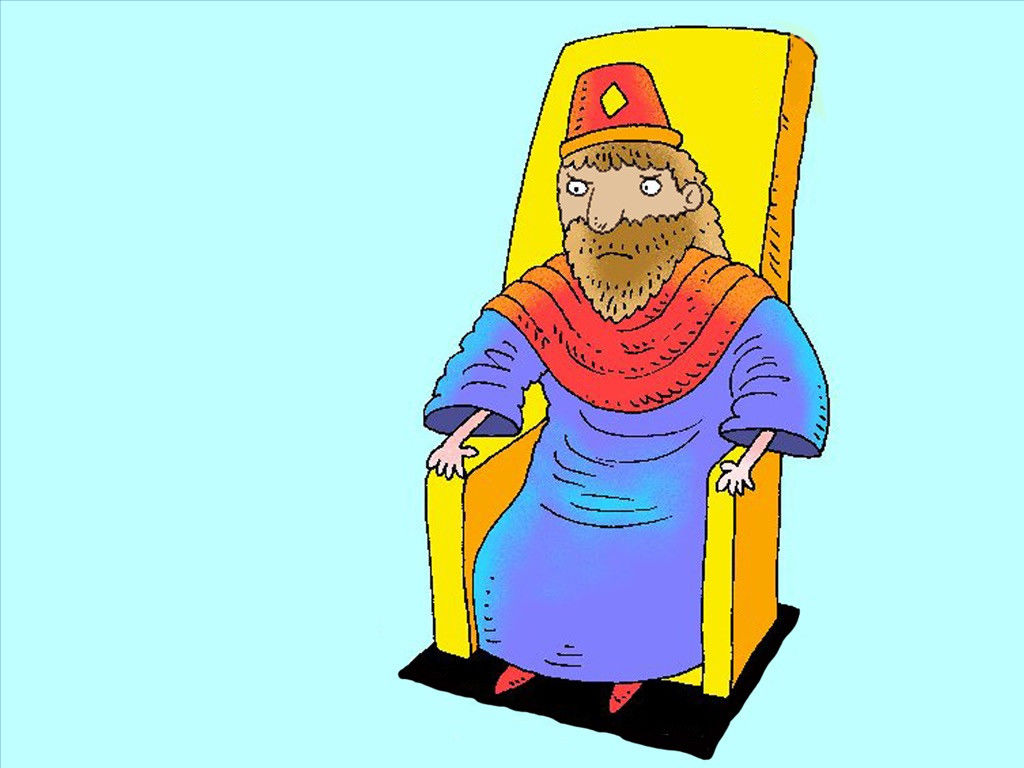 Nebuchadnezzar clipart vector free FreeBibleimages :: Proud Nebuchadnezzar is humbled :: Mighty King ... vector free