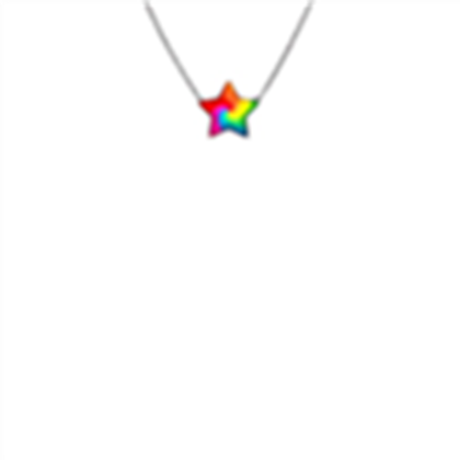 Necklace roblox clipart png royalty free download Awesome rainbow star necklace! - Roblox png royalty free download