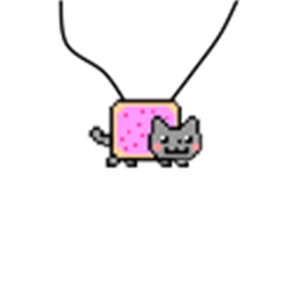 Necklace roblox clipart clipart free Nyan Cat Necklace - Roblox clipart free