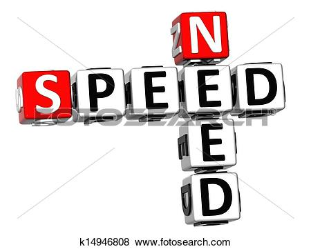 Need for speed clipart clipart transparent download Stock Illustration of 3D Need Speed Crossword k14946808 - Search ... clipart transparent download