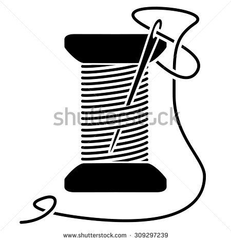 Needle and thread black and white clipart image library Sewing Clipart Black And White | Free download best Sewing Clipart ... image library