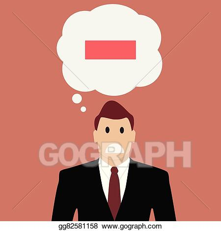 EPS Vector - Businessman with negative thinking. Stock ... svg free stock