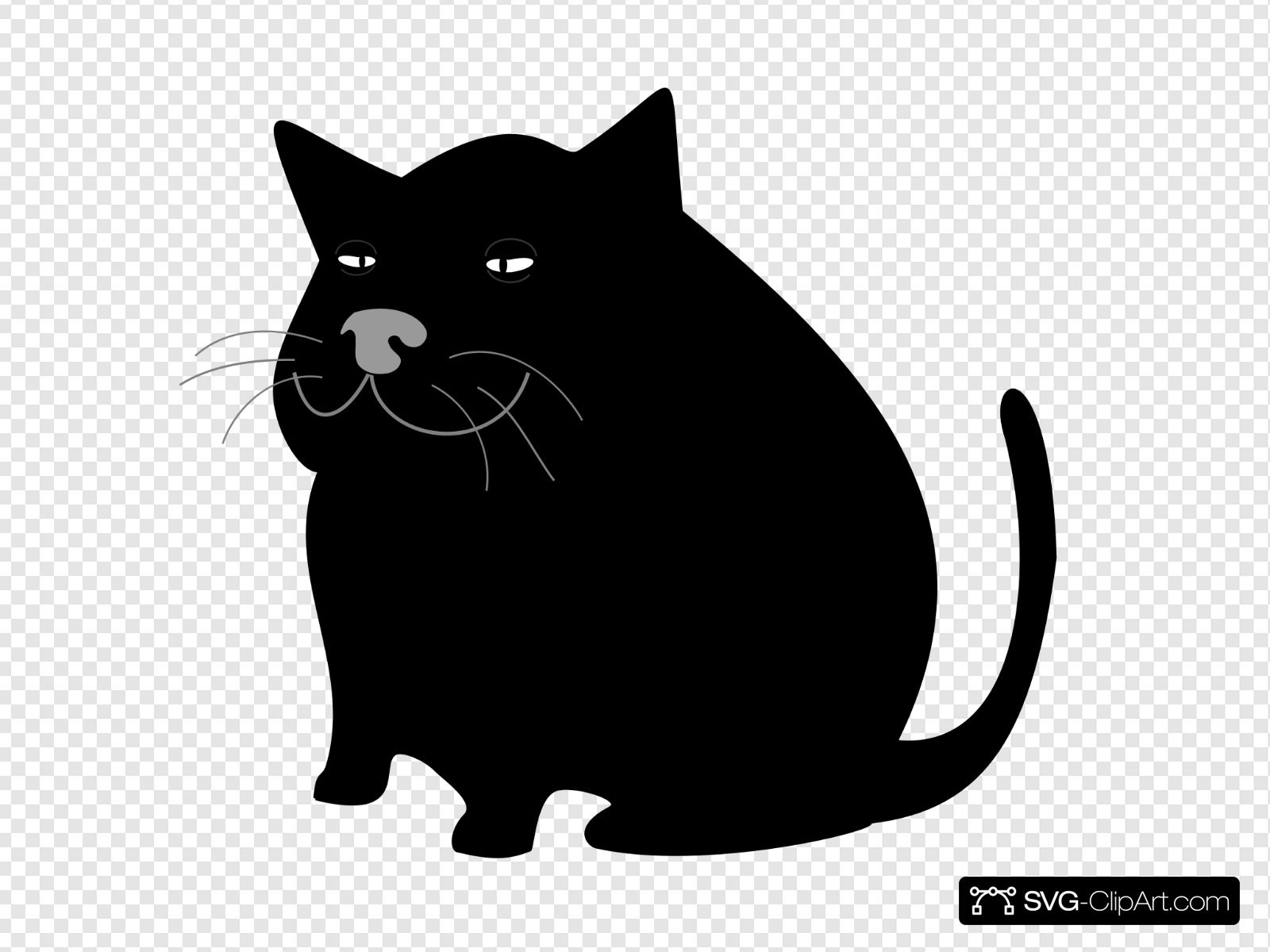 Negro clipart svg library download Black Cat / Gato Negro Clip art, Icon and SVG - SVG Clipart svg library download