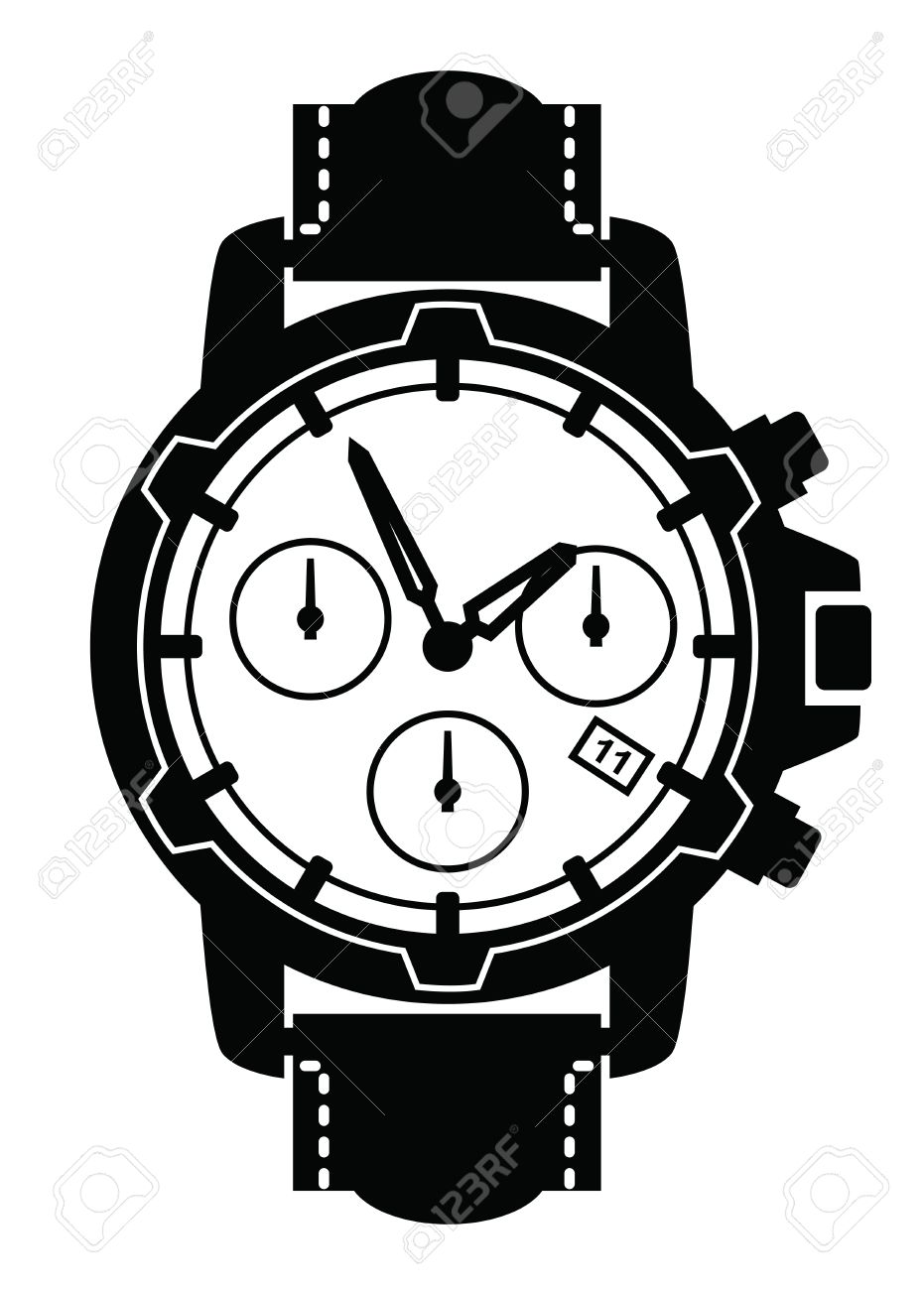 Neighborhood watch face clipart black and white clip art freeuse Watch Clipart Black And White | Free download best Watch ... clip art freeuse