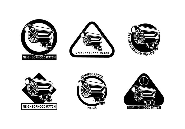 Neighborhood watch face clipart black and white vector freeuse library Neighborhood Watch CCTV Vector - Download Free Vectors ... vector freeuse library