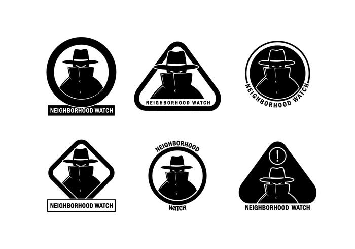 Neighborhood watch face clipart black and white image freeuse download Neighborhood Watch Suspicious Person Vector - Download Free ... image freeuse download