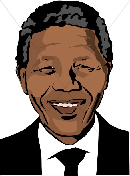 Nelson clipart svg transparent download Smiling Nelson Mandela | Famous People Clipart svg transparent download