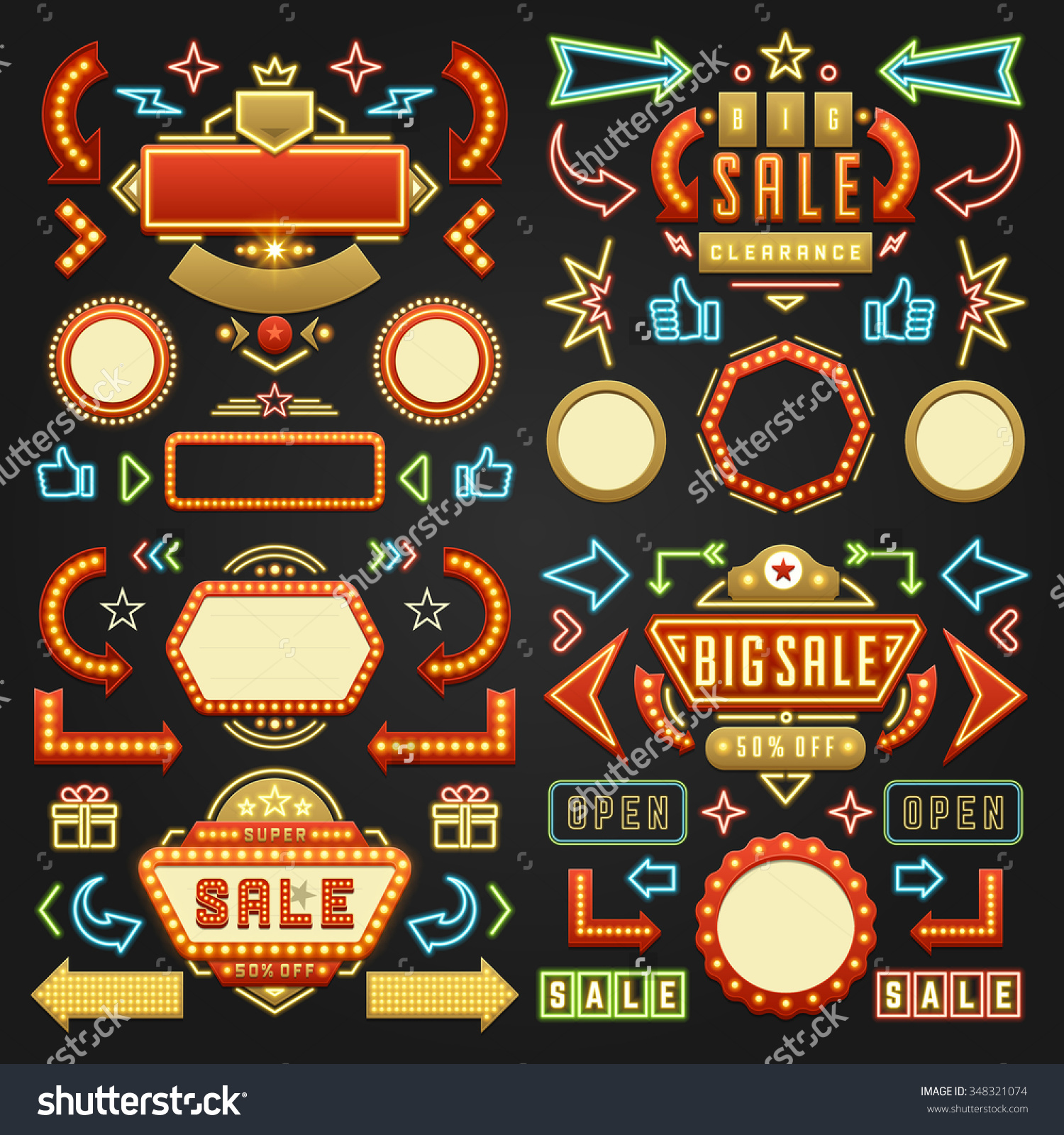 Neon cute arrow clipart clipart library library Retro neon arrow clipart - ClipartFest clipart library library
