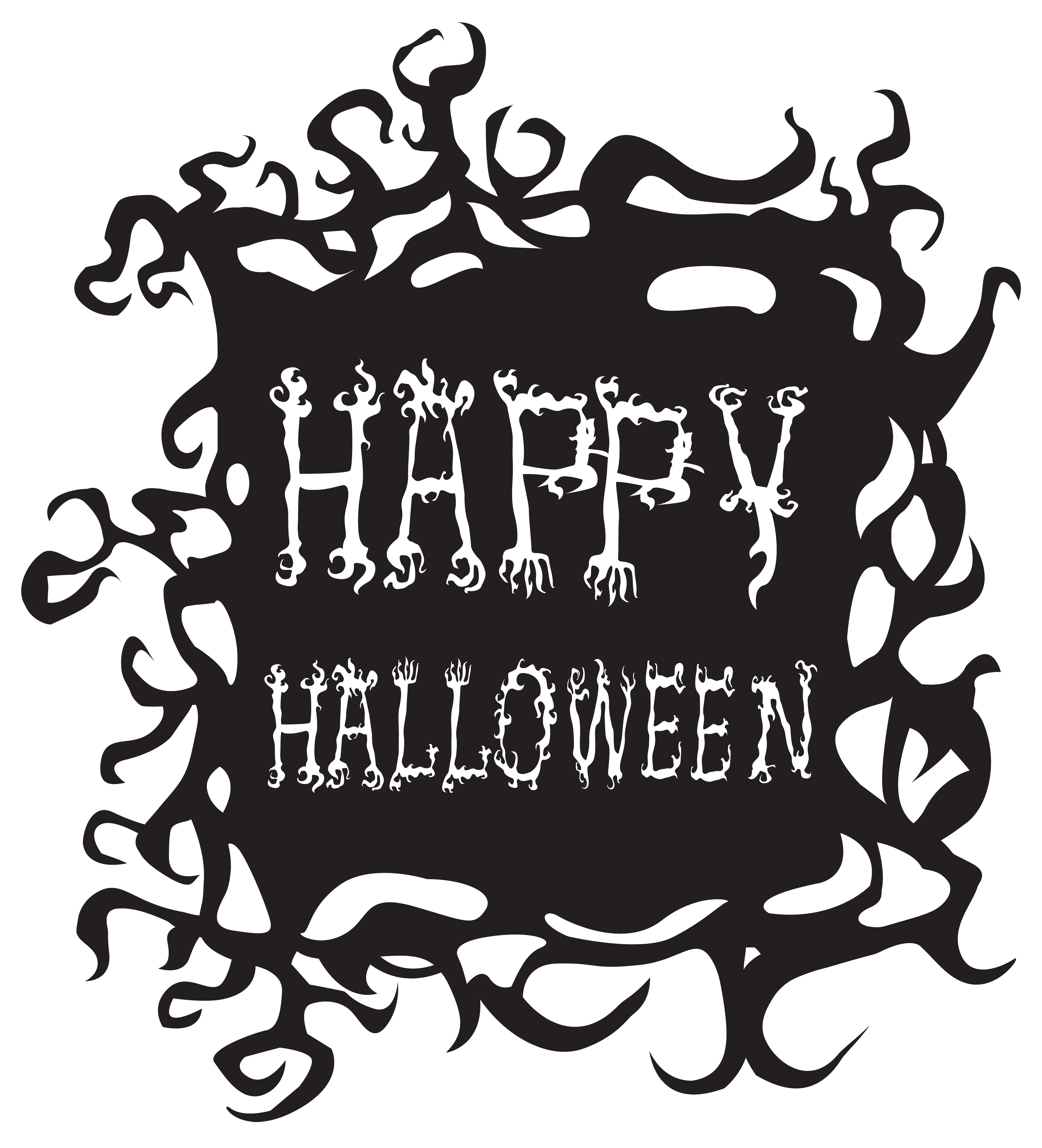 Neon ghost clipart for halloween graphic freeuse Happy Halloween PNG Free Clip Art Image   Halloween   Pinterest ... graphic freeuse