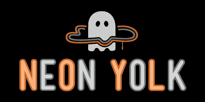 Neon ghost clipart for halloween vector freeuse download Neon Yolk — Nichelle Reyes Design vector freeuse download