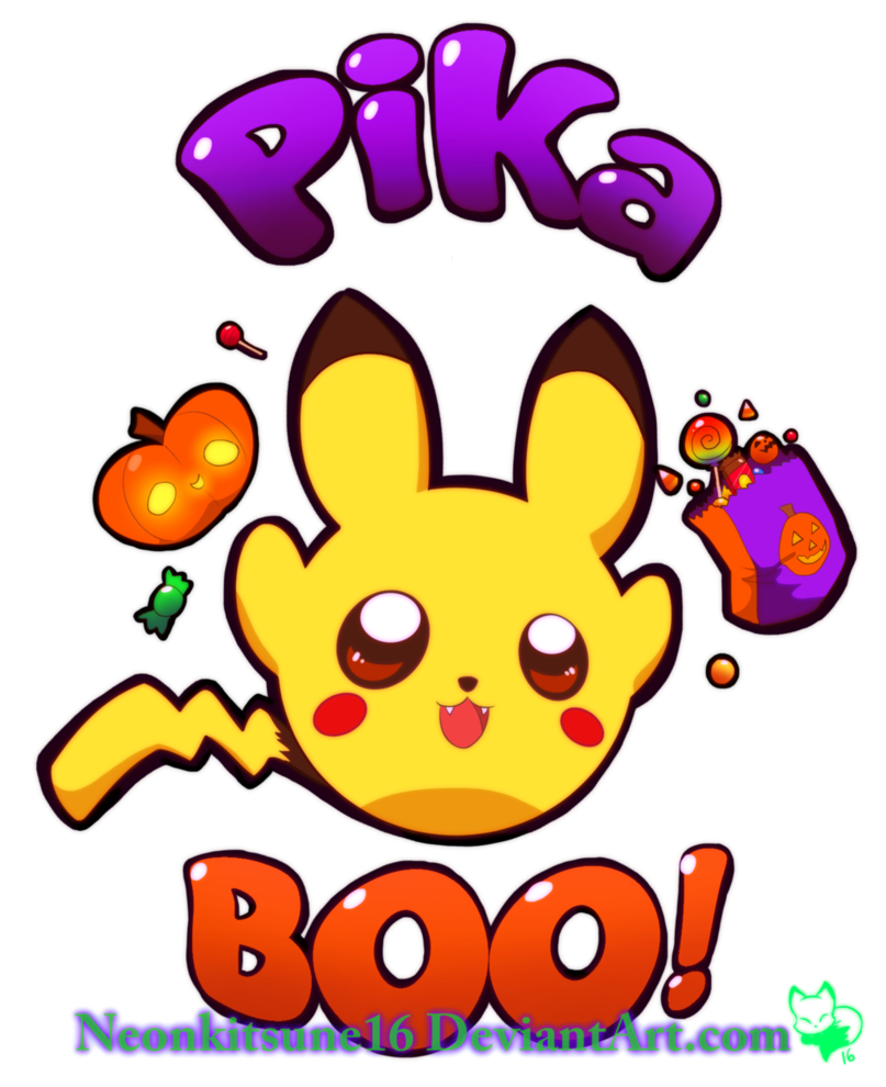Neon ghost clipart for halloween banner download Halloween pikaBOO!! by NeonKitsune16 on DeviantArt banner download