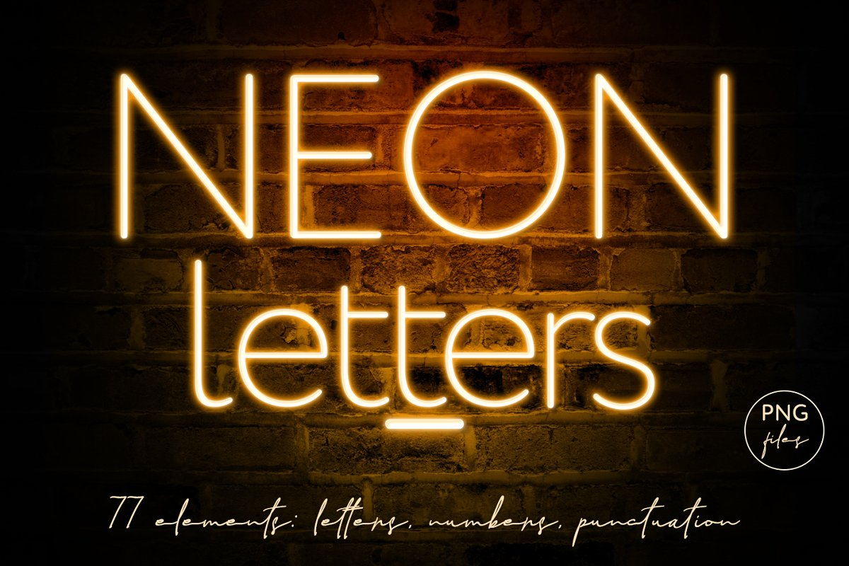 Neon lights alphabet cliparts picture free library Orange Neon Letters clipart picture free library