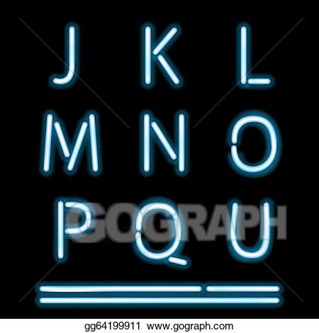 Neon lights alphabet cliparts png transparent stock Vector Art - Neon light alphabet 2. EPS clipart gg64199911 ... png transparent stock