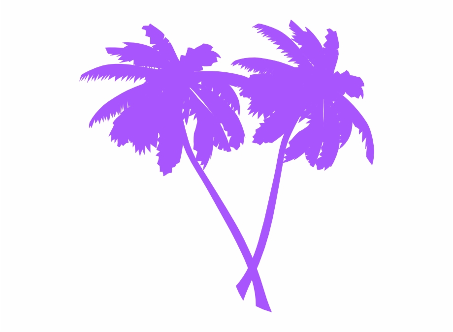 Neon palm tree clipart