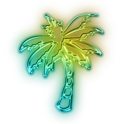 Library of neon palm tree png black and white stock png ...