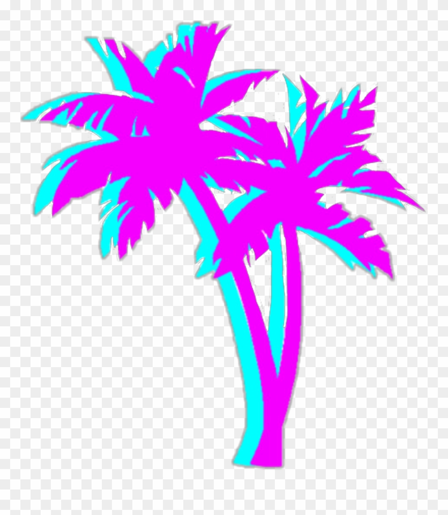 Neon palm tree clipart clip royalty free Bright Colorful Neon Aesthetic Tumblr Vaporwave - Vaporwave ... clip royalty free