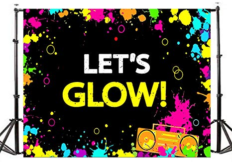 Neon party clipart clip royalty free TMOTN 7x5ft Glow Neon Party Photography Backdrop Let\'s Glow Splatter Photo  Background Vinyl Glowing Party Backdrops Banner Decoration Neon Party ... clip royalty free