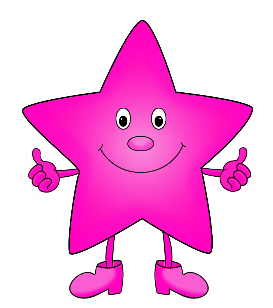 Neon pink star border clipart image svg download Star Clipart svg download