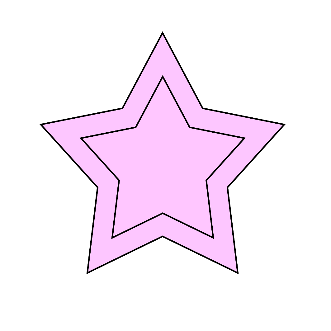 Neon pink star border clipart image jpg library download Star Clipart jpg library download