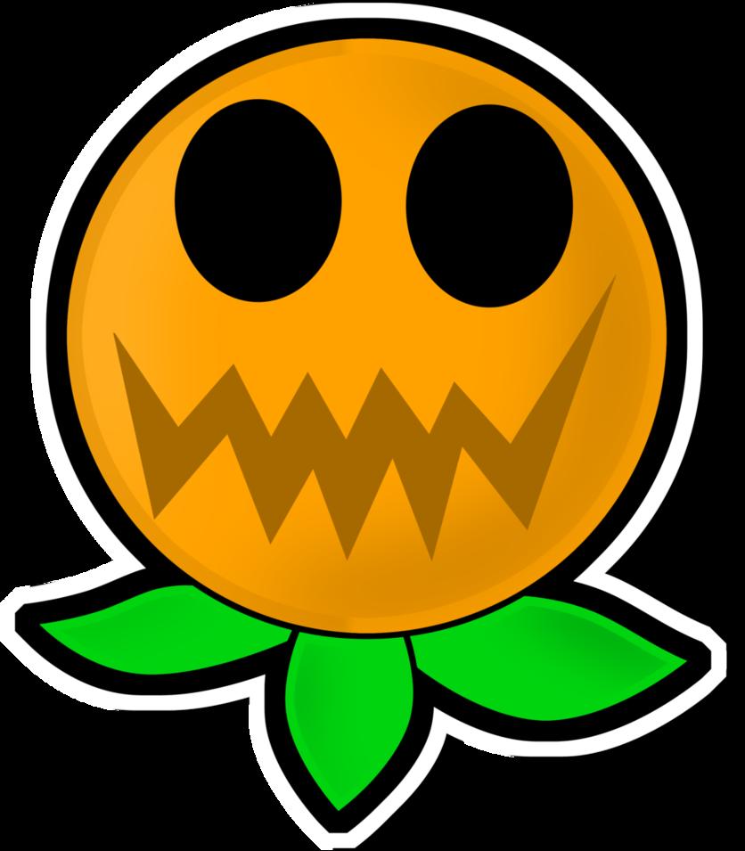 Neon pumpkin clipart clip free library Paper Mario TSOD - Jumpin' Pumpkin Plant by Pixel-Kiitty on DeviantArt clip free library