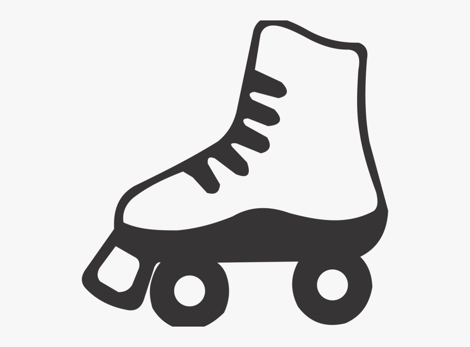 Skating clipart black and white