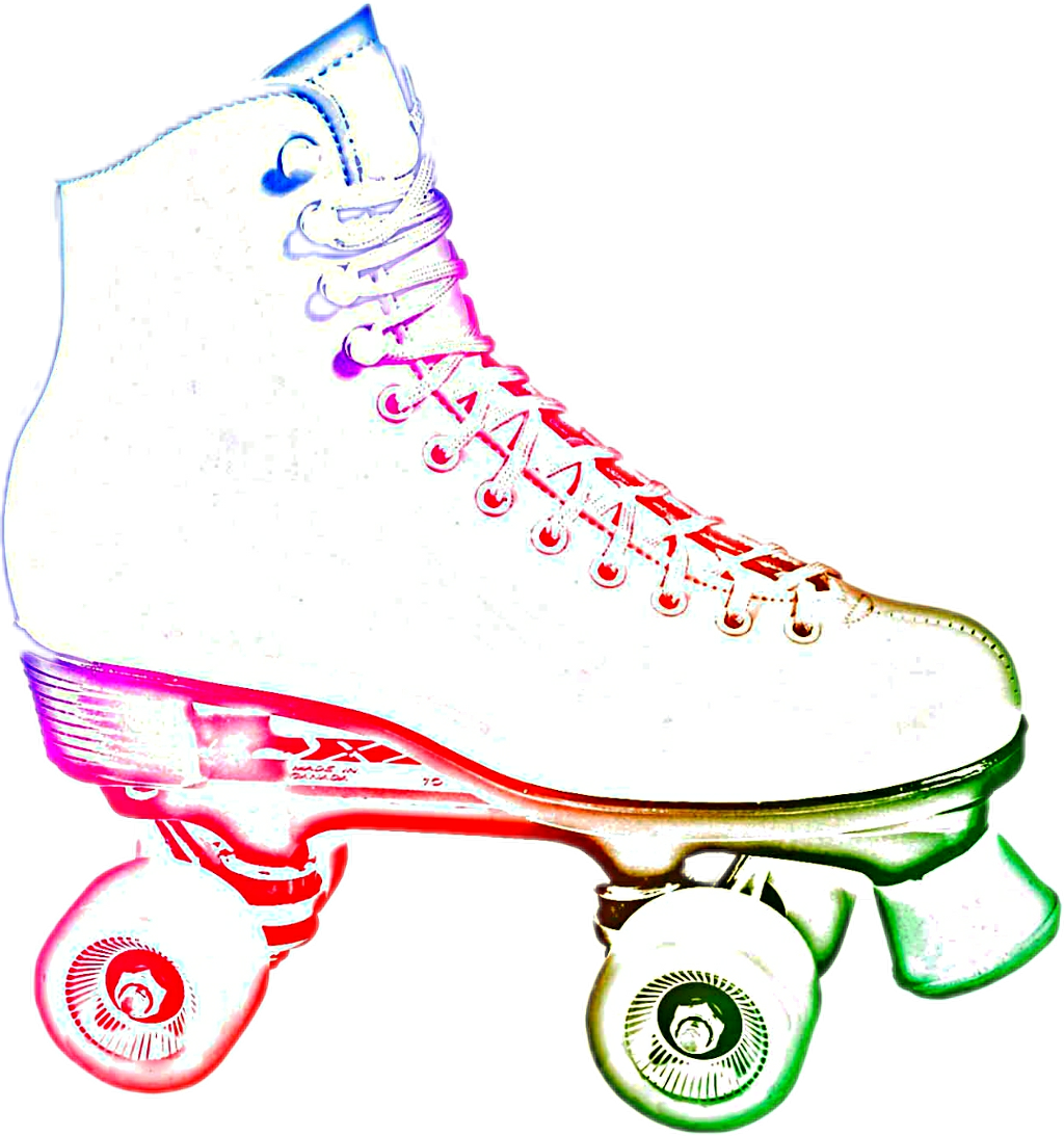 Neon roller skate clipart on black background png royalty free library HD #neon Roller Skate #fun #childhood - Neon Roller Skate ... png royalty free library
