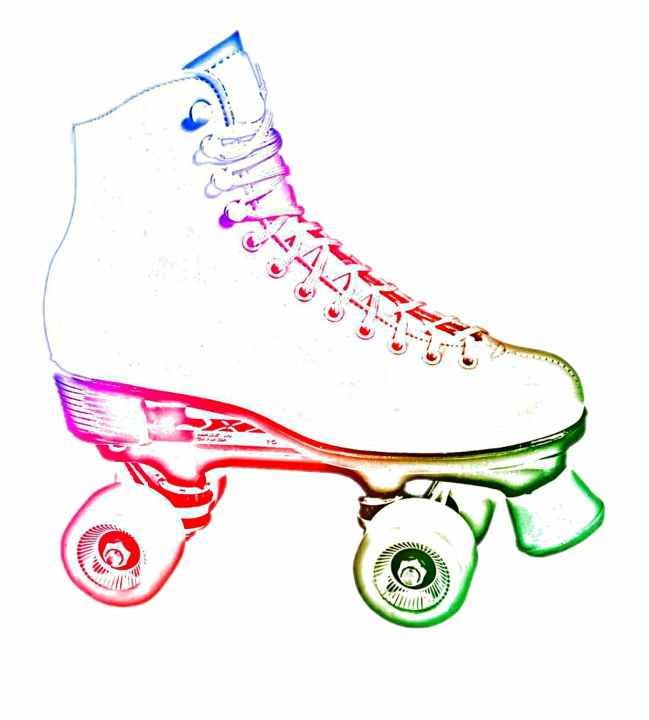 Neon roller skate clipart on black background banner black and white library neon Roller Skate #fun #childhood - Neon Roller Skate Clip ... banner black and white library