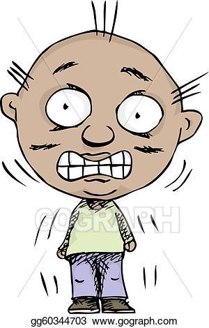 Nervousperson clipart picture black and white download EPS Illustration - Nervous person. Vector Clipart gg60344703 ... picture black and white download