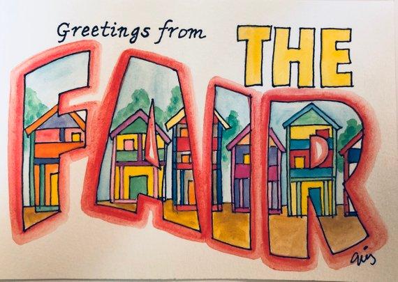 Neshoba county fair clipart jpg transparent download Fair Cabin, Neshoba County Fair, Original Watercolor ... jpg transparent download