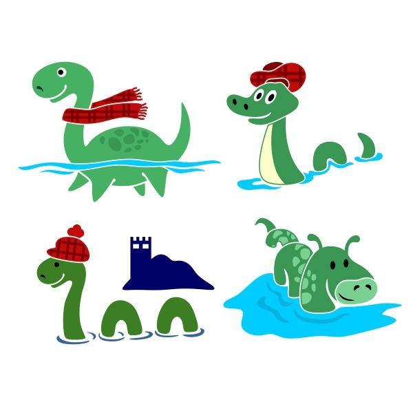 Nessie clipart svg black and white library Pin by CuttableDesigns on Sci-Fi and Aliens | Loch ness ... svg black and white library