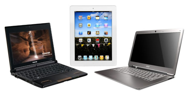 Netbook vs tablet vector black and white Netbooks vs. Laptops: Which is Right for You? | Technology Review vector black and white