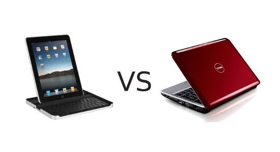 Netbook vs tablet picture stock Competition And Computing Trends Among Netbook And Tablet picture stock