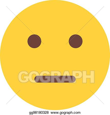 Neutral clipart banner transparent download Vector Clipart - Neutral emoji. Vector Illustration ... banner transparent download