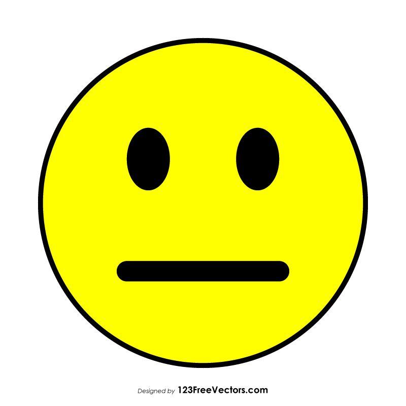 Neutral smiley face clipart clip transparent Flat Neutral Face Emoji | Free Vectors | Emoji, Vector free ... clip transparent