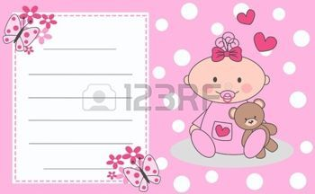 New born baby girl clipart vector library library love message teddy bear: newborn baby girl | Хочу здесь ... vector library library