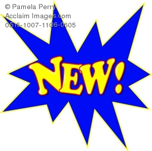 New clipart images free stock Clip Art Image of the Word NEW! in a Starburst free stock