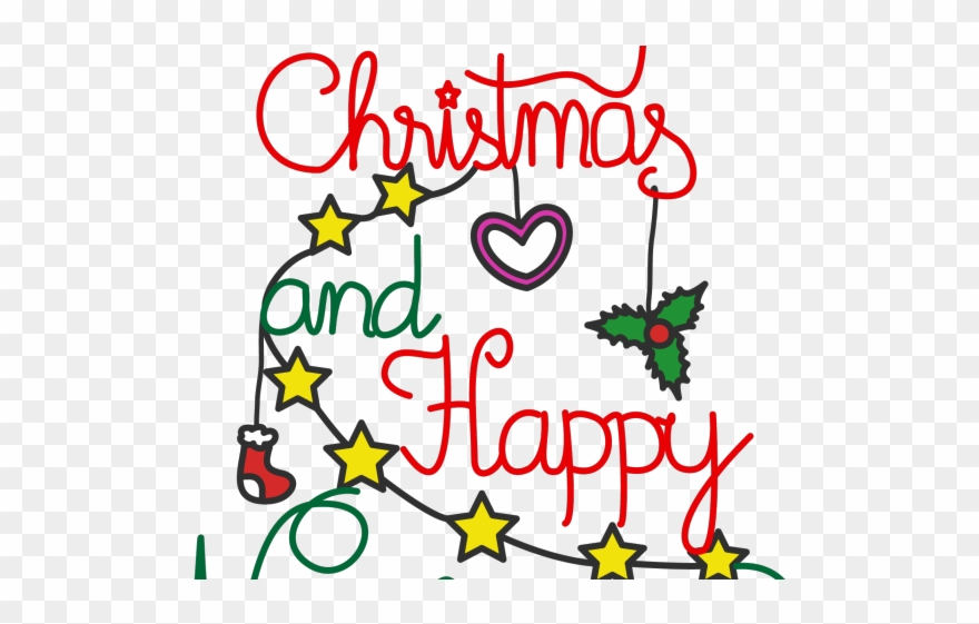 New clipart text graphic freeuse Merry Christmas Text Clipart Celebration - Christmas And New ... graphic freeuse