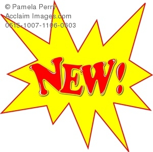 New clipart text clip art royalty free stock Clip Art Image of the Word NEW! in a Starburst clip art royalty free stock