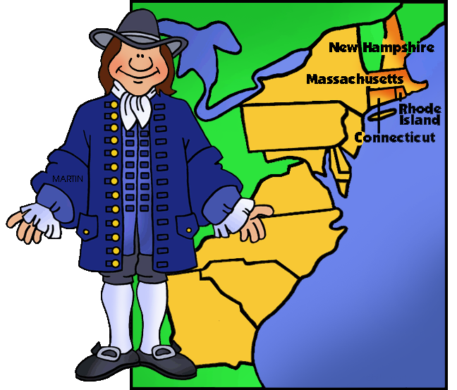 New england map clipart svg free library New England Colonist and Map | Clipart Panda - Free Clipart ... svg free library