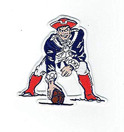 New england patriots football clipart vector New England Patriots NFL Football Team Retro/Throwback Iron-on Jersey Patch  4\