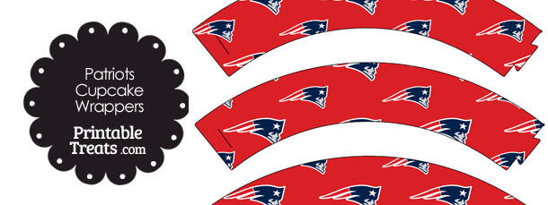 New england patriots logo clipart graphic free New England Patriots Logo Cupcake Wrappers — Printable Treats.com graphic free